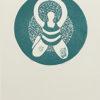 Gae verde Linoleumgrafia su carta 50x35