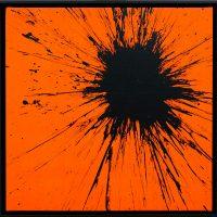 Impact Arancione Fluo 2020 acrilico su tela cm 50x50