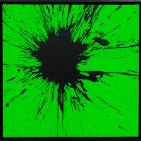 Impact Verde Fluo 2020 acrilico su tela cm 50x50